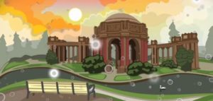 motion graphics - 2d animated landscape