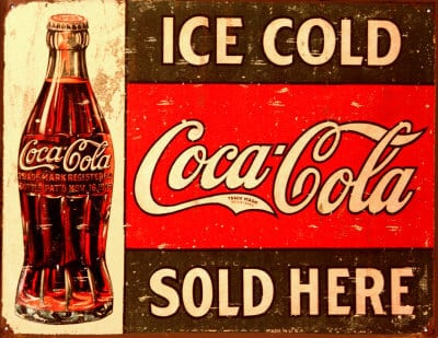 old coca cola sign