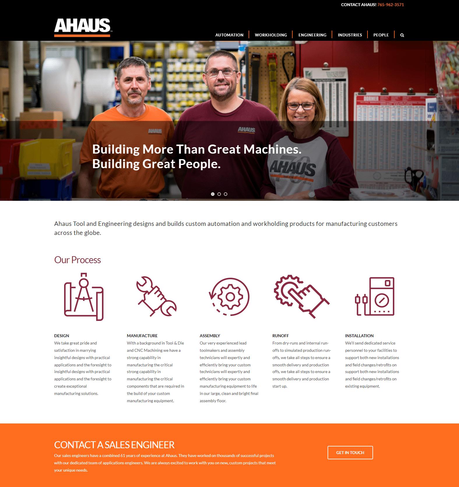 ahaus tool and engineering wesbite